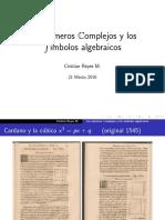 14 - Números Complejos y Símbolos Algebraicos