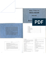 Hitachi Denshi v-423(R) & v-223 Oscilloscope Operation Manual