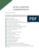 Programa de La Materia Derecho Administrativo