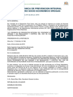 Ley de Prevención Integral Del Fenómeno Socioeconómico de Lasdrogas PDF