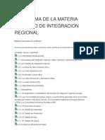 Programa de La Materia Derecho de Integracion Regional
