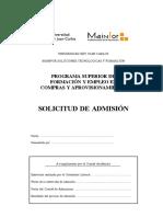 Cuestionario de Valoración de Acceso Al Programa de Formación y Empleo en Compras1