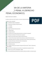 Programa de La Materia Derecho Penal III