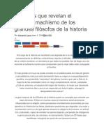 20 Frases Que Revelan El Extremo Machismo de Los Grandes Filósofos de La Historia