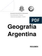 Geografía Argentina - Resumen