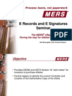 MERS E-Registery for Notes and Mortgages -presentation