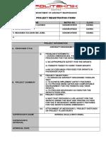 Project Registration Form June 2016