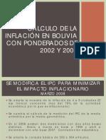 Medicion de La Inflacion en Bolivia Ponderadores 2007 2013