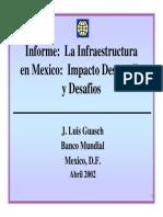 1.2 La Infraestructura en Mexico Impacto Desarrollo y Desafios