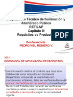 Requisitos de Productos Para Iluminacion Segun Retilap.ppt