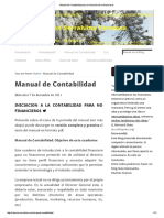 Manual de Contabilidad Para La Iniciación de No Financieros