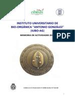 Instituto Universitario de Bio-Orgánica Antonio Gonzáles - Memoria de Actividades 2013