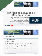 01. Tendencias Actuales Del Mantenimiento_ppt_Jaime Collantes Bohórquez_SIN 2015