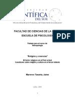"""""""Religión y creencias""""   El factor religioso en el Perú actual Cuestiones sobre religión y cultura en el tercer milenio"""