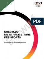 Eckpunkte DOSB Strategiepapier 2020