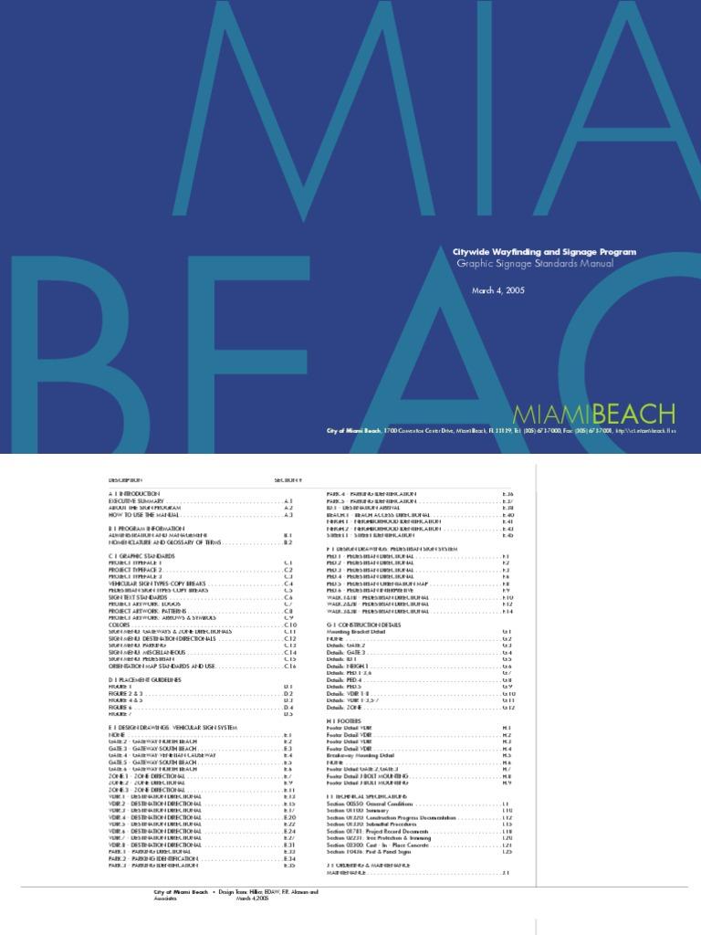 Miami beach wayfinding signage design manual graphic design miami beach wayfinding signage design manual graphic design typography fandeluxe Images