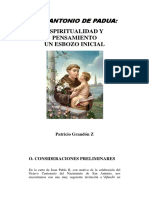 San Antonio de Padua, Espiritualidad y Pensamiento - Patricio Grandon Z