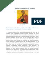San Agustin - Tratado I Sobre El Evangelio de San Juan