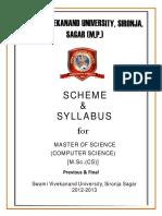 SVU M.sc.(CS) Syllabus