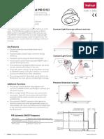 312 Multisensor With Linked PIR Datasheet Iss05