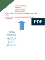 Cara Pintas Microsoft Word