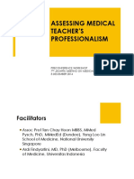 Assessing Medical Teachers' Professionalism 051214