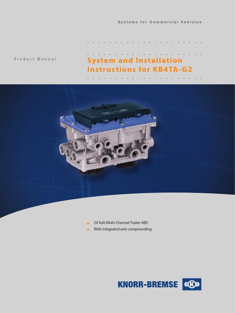 Installajonsveiledning Kb4 Anti Lock Braking System Suspension Car Brake Diagram Electropneumatic Brakes Vehicle