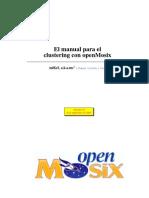 El manual para el clustering con open Mosix