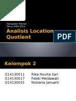 Kelompok 2 - Analisis LQ
