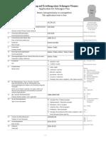 Sample Online Visa Application Form