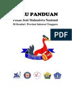 Panduan Peksiminas XIII Di UHO Kendari Sulawesi Tenggara Revisi 15 Juli 2016