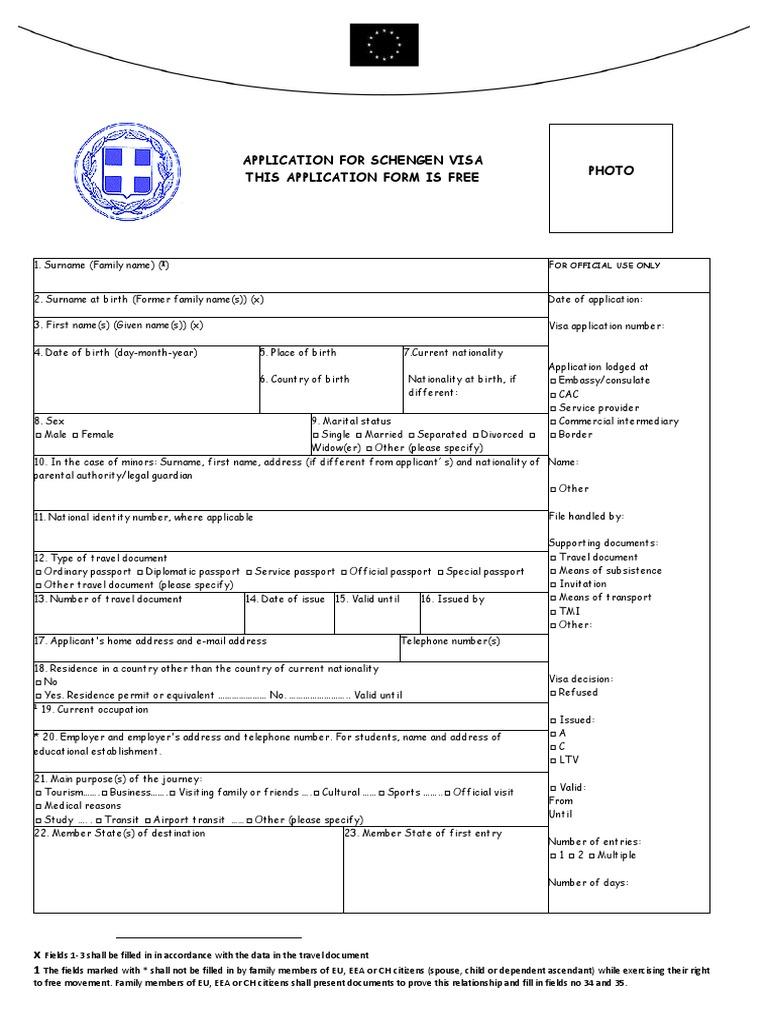 Diplomatic passport application form choice image standard form schengen visa application form greece travel visa passport falaconquin falaconquin