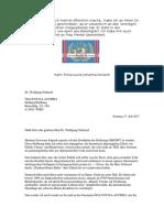 Brief an Dr. Wolfgang Schüssel