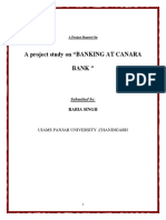 Mba Project Report on Canara Bank -1