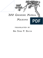 Moral Maxims of the Chinese
