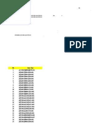 File For Brbg Of Item In Warehouse