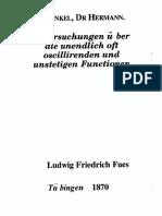 Untersuchungen Uber Die Unendlich Oft Oscillirenden Und Unstetigen Functionen Hermann Hankel 1870