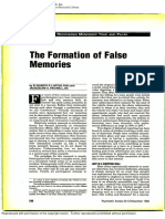 The Formation of False Memories