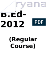 B.ed Regular
