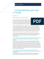 Five Things Bill Gates Gets Right on Energy