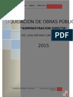 Proceso Liquidacion de Obras Publicas Fisico Financiero gl