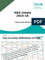 M&E simply