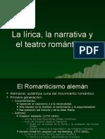 5.0 La Lírica, La Narrativa y El Teatro Románticos