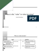Value Investing - Aswath Damodaran