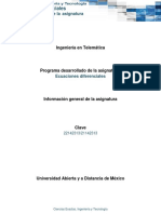 Informacion General Asignatura