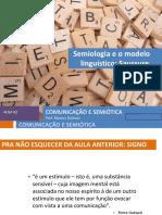O Modelo Semiológico de Saussure
