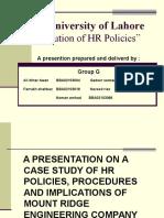 HRM Policies