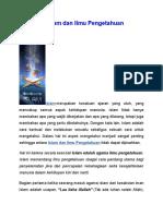 Kesatuan Islam Dan Ilmu Pengetahuan
