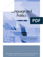 1 language and politics joseph  2007  ch1 politics