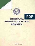Constitutia Republicii Socialiste Romania
